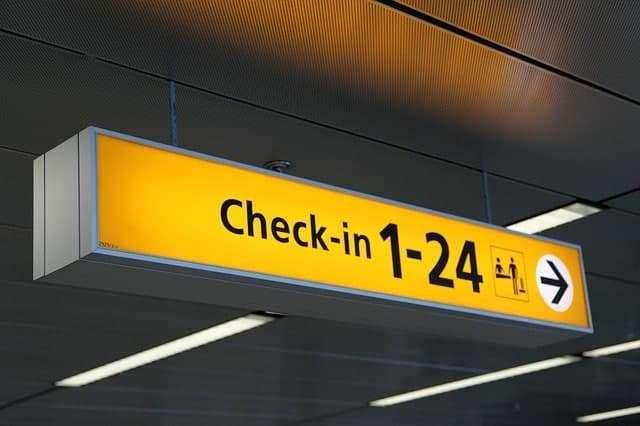 שילוט והכוונה לטיסות יוצאות