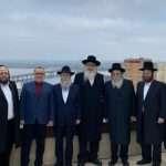 """יו""""ר איחוד ברסלב בטומן בפגישה עם ראשי הקהילה היהודית בדנייפר"""