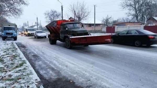 מפלסת שלג בפעולה באומן