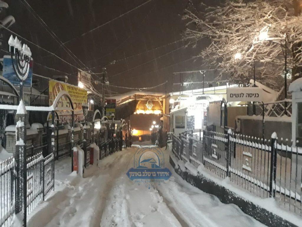 נסיעה לאומן בחורף - מבט אל גשר הכהנים