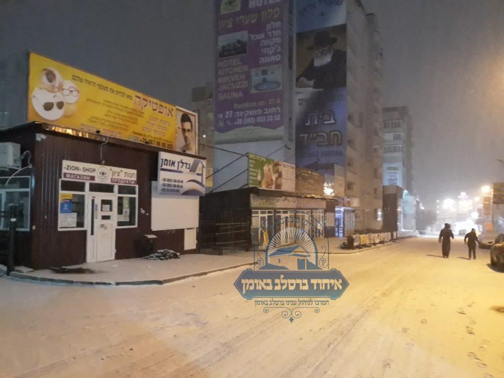 רחוב פושקינה בשלג