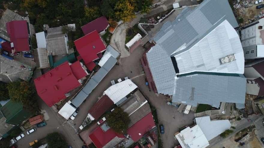 הקלויז הגדול סמוך לציון רבי נחמן מברסלב באומן צילום מהאויר