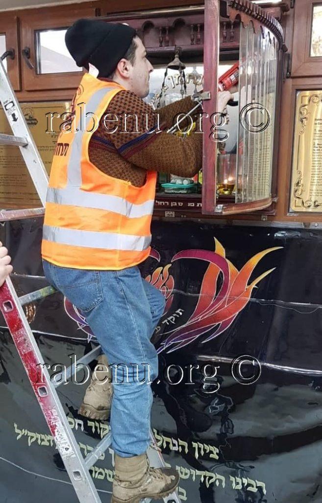 תיקון בית המנורה של נר התמיד בציון רבנו