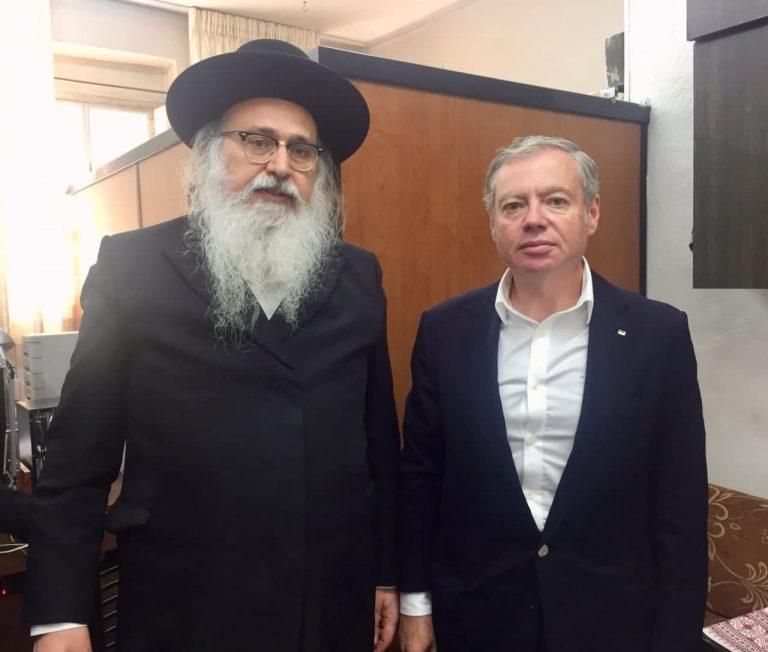 הרב נתן בן נון עם שגריר אוקראינה בישראל