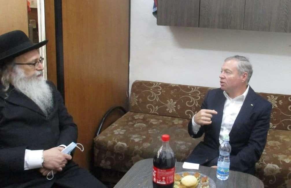 נשיא איחוד ברסלב בפגישה עם שגריר אוקראינה