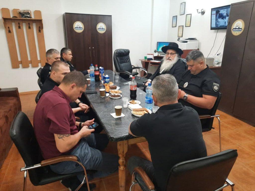 בכירי משטרת אוקראינה בקלויז באומן